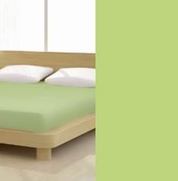 Jersey gumis lepedő, 90-100x200 cm, 135 g/nm, Kiwi/Zöld (268)- Mr Sandman