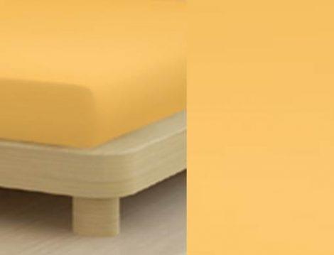 Jersey gumis lepedő, 180-200x200 cm, 150 g/nm, Sárga (218)- Mr Sandman