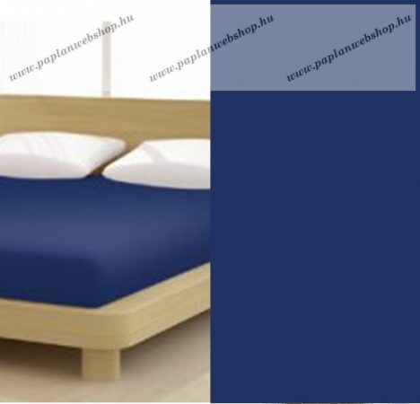 Jersey gumis lepedő, 140-160x200 cm, 150 g/nm, Kék-sötét (238) - Mr Sandman