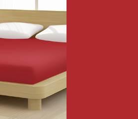 Jersey gumis lepedő, 90-100x200 cm, 150 g/nm, Bordó/Cseresznye - Mr Sandman
