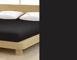 Jersey gumis lepedő, 180-200x200 cm, 150 g/nm, Fekete (249)- Mr Sandman