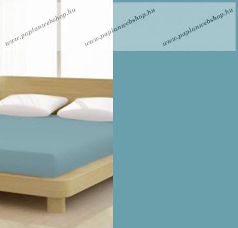 Jersey gumis lepedő, 180-200x200 cm, 150 g/nm, Karibik Kék (258)- Mr Sandman