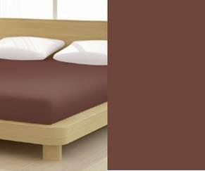 Jersey gumis lepedő, 140-160x200 cm, 150 g/nm, Tabak/Barna (280)- Mr Sandman