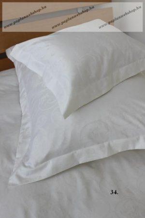 Naturtex Fehér jacquard pamut-szatén nagypárnahuzat, 70x90 cm