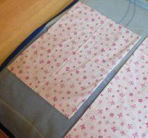 Pillangós-virágos rózsaszín baba ágyneműhuzat (90x130 + 40x50 cm) - Naturtex