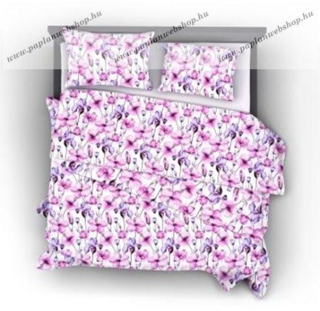 Naturtex Pink Iris pamut-szatén ágyneműhuzat, 5 részes (kétszemélyes)