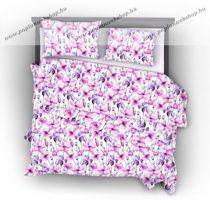 Naturtex Pink Iris pamut-szatén ágyneműhuzat, 3 részes