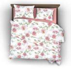 Naturtex Pink Rose pamut-szatén ágyneműhuzat, 3 részes