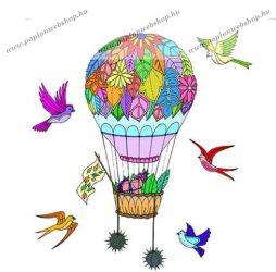 Festhető díszpárnahuzat, Hőlégballon