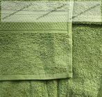 Frottír törölköző, Zöld, 70x130 cm