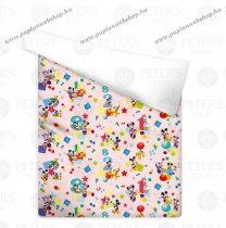 Miki/Mickey és Minnie Egér Pink pamut ágytakaró 140x200 cm