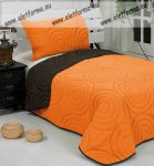 Betti ágytakaró, Barna-narancs, 150x210 cm