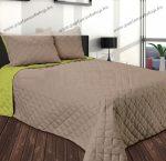 GINA ágytakaró, capuccino-zöld, 210x240 cm
