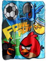 Angry Birds pléd/takaró, Focis, 100x140 cm
