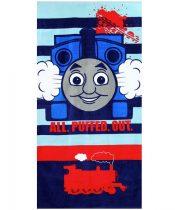 Thomas a gőzmozdony törölköző, Csíkos, 70x140 cm