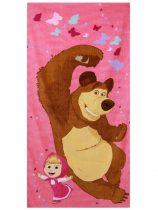 Mása és a medve törölköző, Pink, 70x140 cm