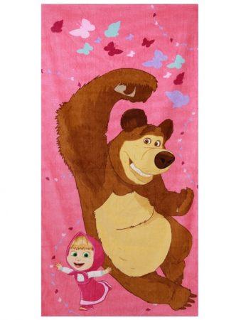 Mása és a medve törölköző, Pink, 70x140 cm (821-486)