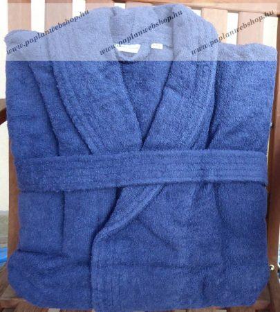 Frottír sálgalléros köntös, Kék  (100 % pamut), S