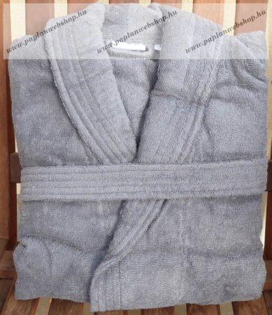 Frottír sálgalléros Szürke köntös (100 % pamut), XL