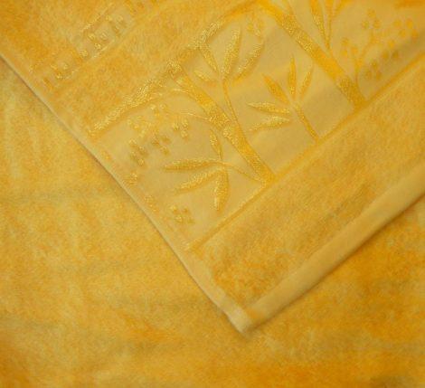 Bambuszos törölköző, sárga  (100 % bambusz), 70x140 cm