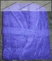 Frottír sálgalléros Kékes-lila köntös (100 % pamut), S