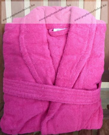 Frottír sálgalléros Pink köntös (100 % pamut), XL
