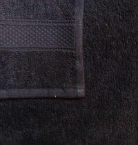 Frottír törölköző, fekete, 30x50 cm