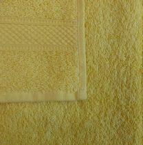 Frottír törölköző, sárga-nap, 30x50 cm