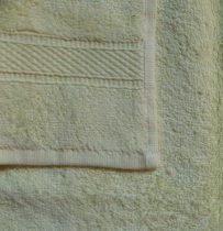 Frottír törölköző, sárga-halvány, 30x50 cm