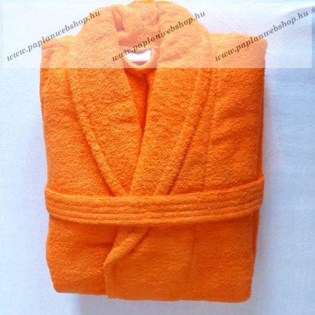 Frottír sálgalléros köntös, Narancs (100 % pamut), L