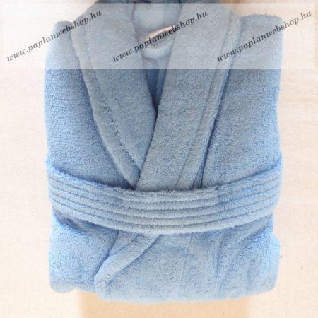 Frottír sálgalléros köntös, Kék-Középkék (100 % pamut), M