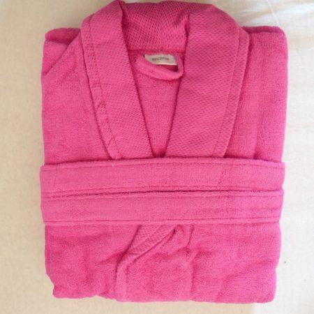 Frottír sálgalléros köntös, Rózsaszín/Pink elegante (100 % pamut), L