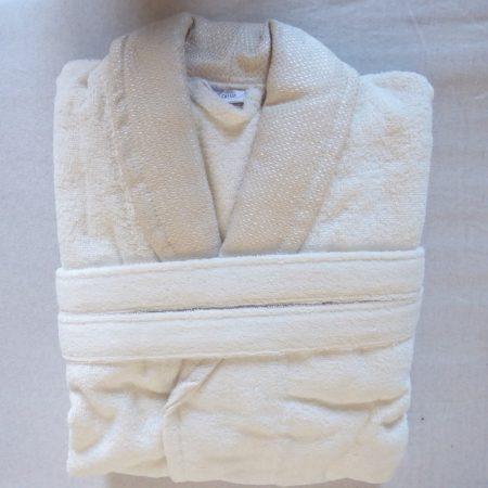Frottír sálgalléros köntös, Beige elegante (1)(100 % pamut), L