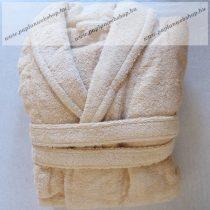 Frottír sálgalléros köntös, Capuccino (100 % pamut), S