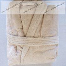 Frottír sálgalléros köntös, Beige  (100 % pamut), XL