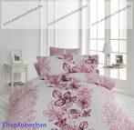 Pink nagy virágos pamut ágyneműhuzat díszdobozban (140x200 + 70x90 + 40x50 cm)