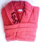 Frottír sálgalléros köntös, Piros Elegant Hímzett (Ü)(100 % pamut), L