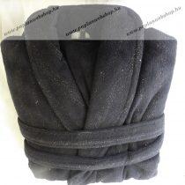 Frottír sálgalléros köntös, Fekete glitteres  (100 % pamut), XL
