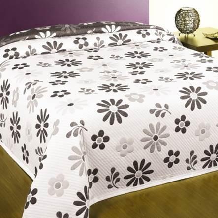 Homedeco DELIA ágytakaró, Szürke-fekete, 240x260 cm